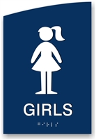 ADA Braille Girl's Restroom Sign