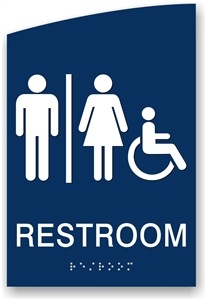 ADA Braille Restroom Sign
