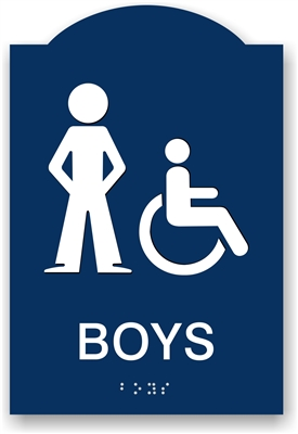 ADA Braille Boy's Restroom Sign