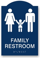 ADA Braille Family Restroom Sign