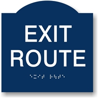 EXIT Route Braille Sign