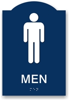 ADA Braille Men's Restroom Sign
