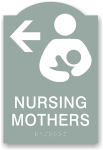 ADA Braille Nursing Mother Directional Sign