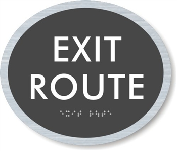 Exit Route ADA Braille Sign