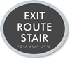 Exit Route Stair ADA Braille Sign