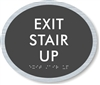 Exit Stair Up ADA Braille Sign