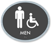 Men's braille ADA Sign