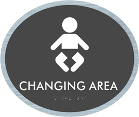 Baby Changing braille ADA Sign