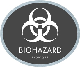 Biohazard braille ADA Sign