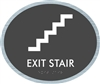 Exit Stair braille ADA Sign