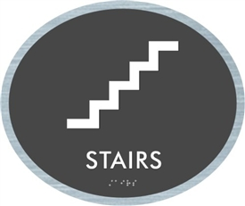 Stairs braille ADA Sign