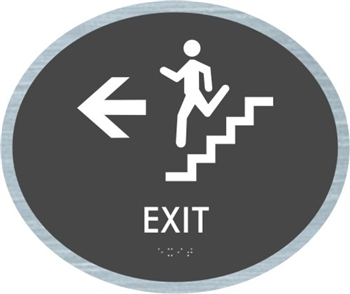 Stair Exit braille ADA Sign