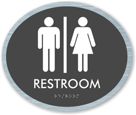 Restroom braille ADA Sign