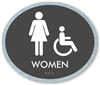 Women's braille ADA Sign