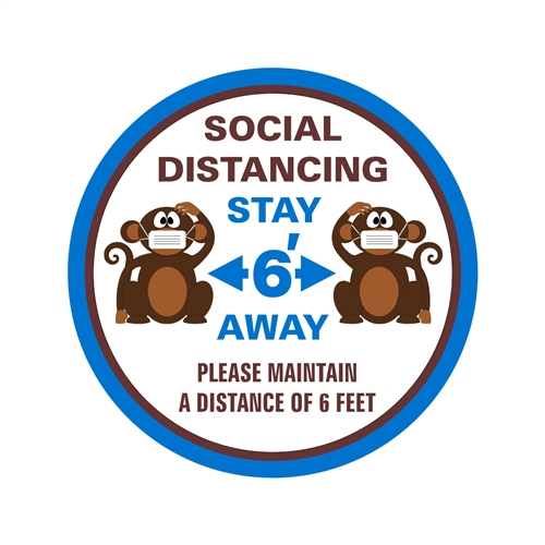 Social Distancing Floor Safety Sign
