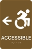ADA Braille Handicap Accessible Directional Sign