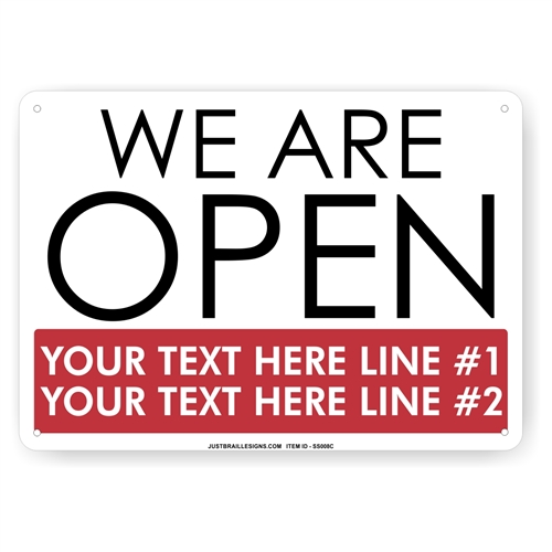 Custom Retail Open Sign