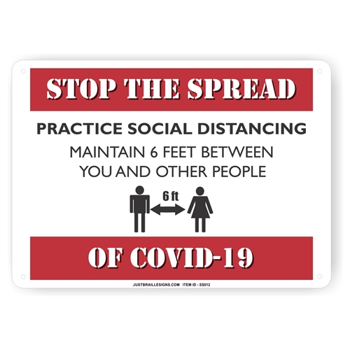Prevent Germ Spread Social Distancing Sign