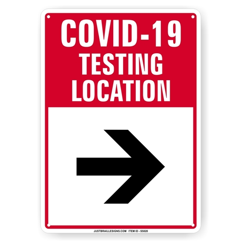 Virus Flu Testing Site Sign