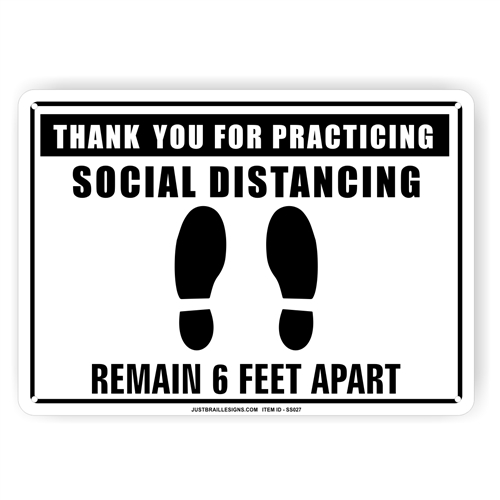 Social Distancing Safety Sign