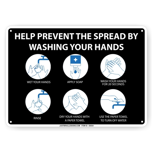 Hand Washing Safety Sign