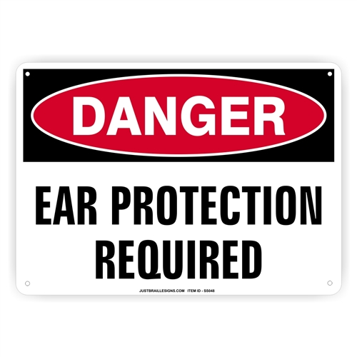 Ear Protection Safety Sign