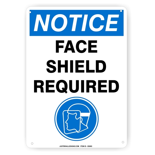 Face Shield Required Sign