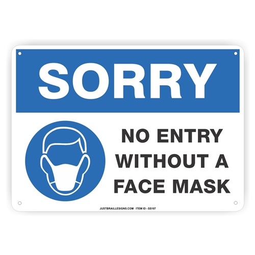 Face Mask Required Safety Sign