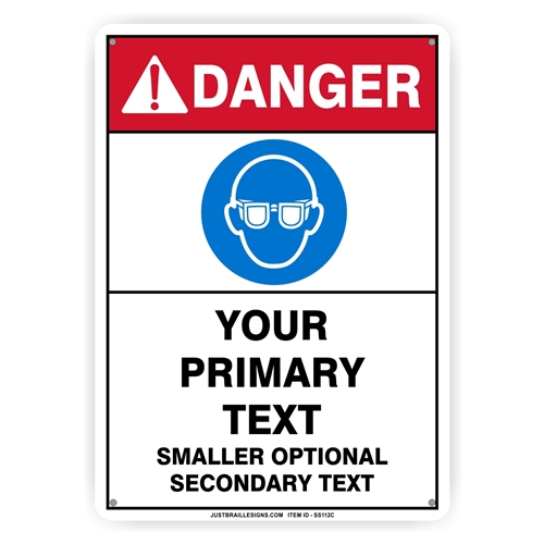 Custom Eye Protection Safety Sign