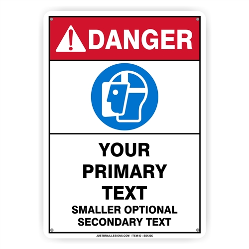 Custom Face Protection Safety Sign