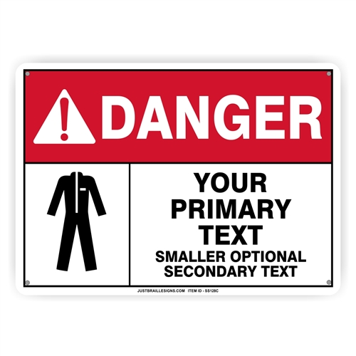 Custom Protective Clothing Safety Sign