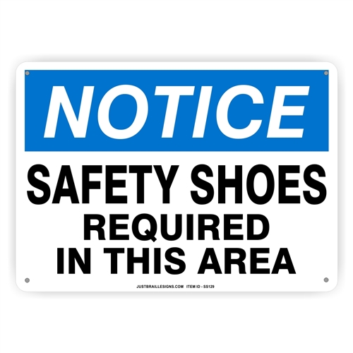 Safety Shoes Required Sign