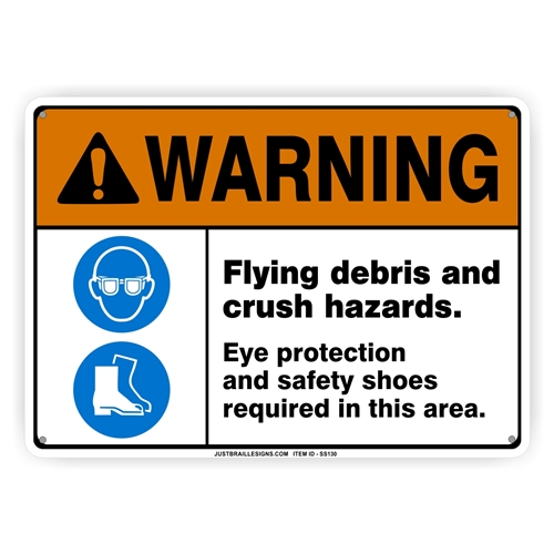 Eye & Foot Protection Required Sign