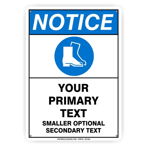 Custom Foot Protection Safety Sign