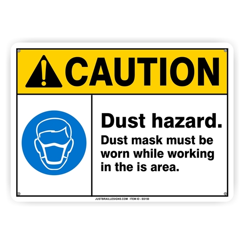 Dust Mask Required Safety Sign