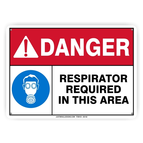 Respirator Required Safety Sign