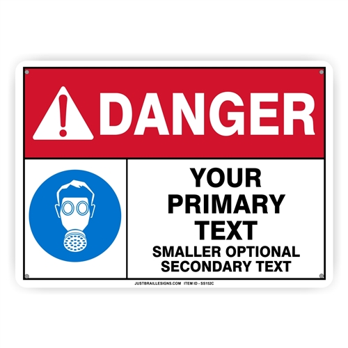 Custom Respirator Safety Sign
