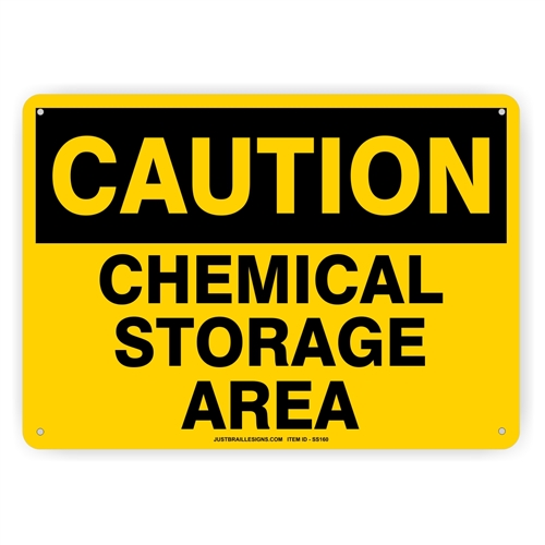 Chemical Storage Safety Sign