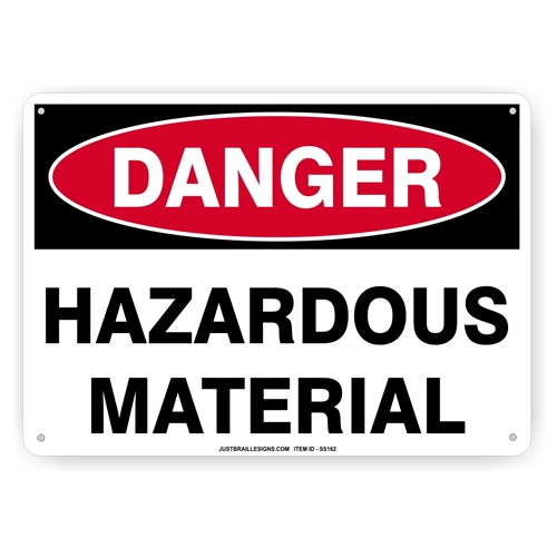 Hazardous Material Safety Sign