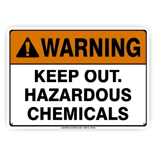 Hazardous Chemical Storage Safety Sign