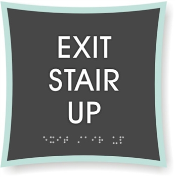 Exit Stair Up Braille Sign To Meet Ada Requirements For