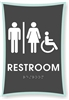 Restroom Braille Sign