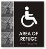 Area of Refuge Braille Sign