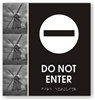 Do Not Enter Braille Sign