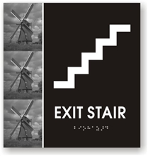 Exit Stair Braille Sign