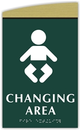 Braille Baby Changing Sign
