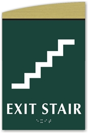 Braille Exit Stair Sign