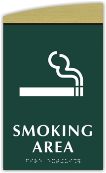 Braille Smoking Area Sign