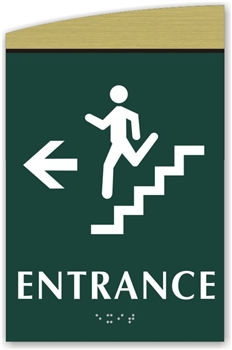 Braille Stair Entrance Directional Sign