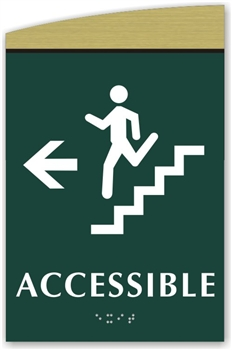 Braille Stair Accessible Directional Sign